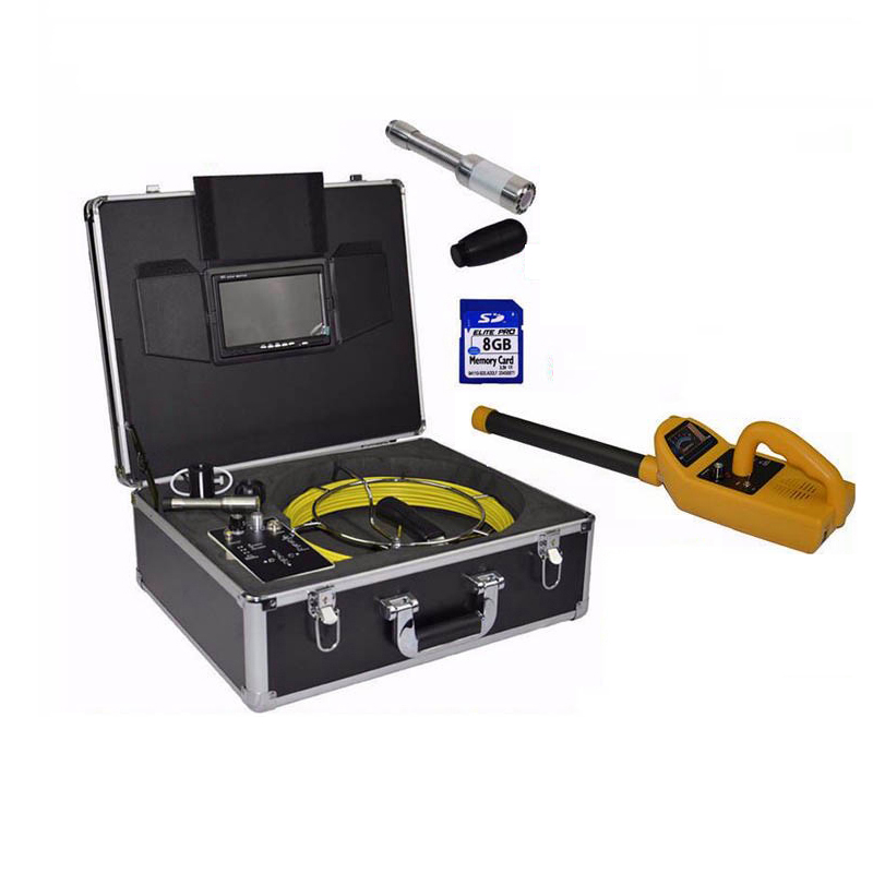 Pipe Locator Sewer Drain Inspection Camera System With 20 Meter Cable 7 TFT Monitor DVR Video