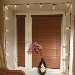 Image 5 - Уличная светодиодная гирлянда с круглыми лампочками, Рождественский шнурок с прозрачными лампочками для украшения свадьбы, вечеринки, сказосветильник ильник для дома, сада, патио, 10 м