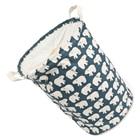 HOT SALE Foldable Cotton Linen Washing Clothes Laundry Basket Sorter Bag Hamper Storage,Blue Polar Bear-35*45Cm