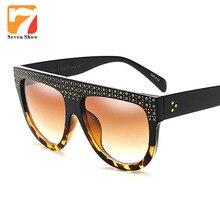 2017 Del Remache de Lujo gafas de Sol de Las Mujeres de Moda Retro Diseñador de la Marca Gafas de Sol Para Damas UV400 Espejo Shades Mujer Vintage Oculos