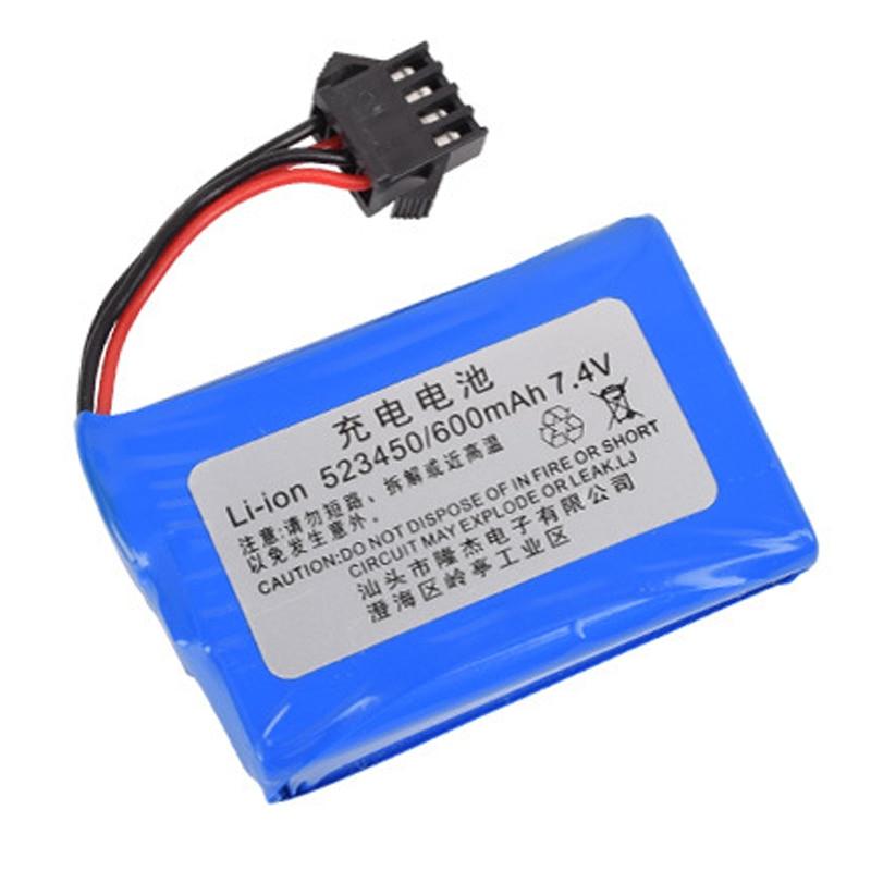 7.4v (3.7vx2) 600mAh 523450 SM 4P akumulator litowo jonowy E561 i zabawki zdalnie sterowane baterie