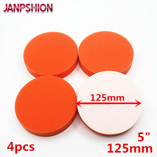JANPSHION 4PC 125mm Gross Polishing Buffing Pad 5