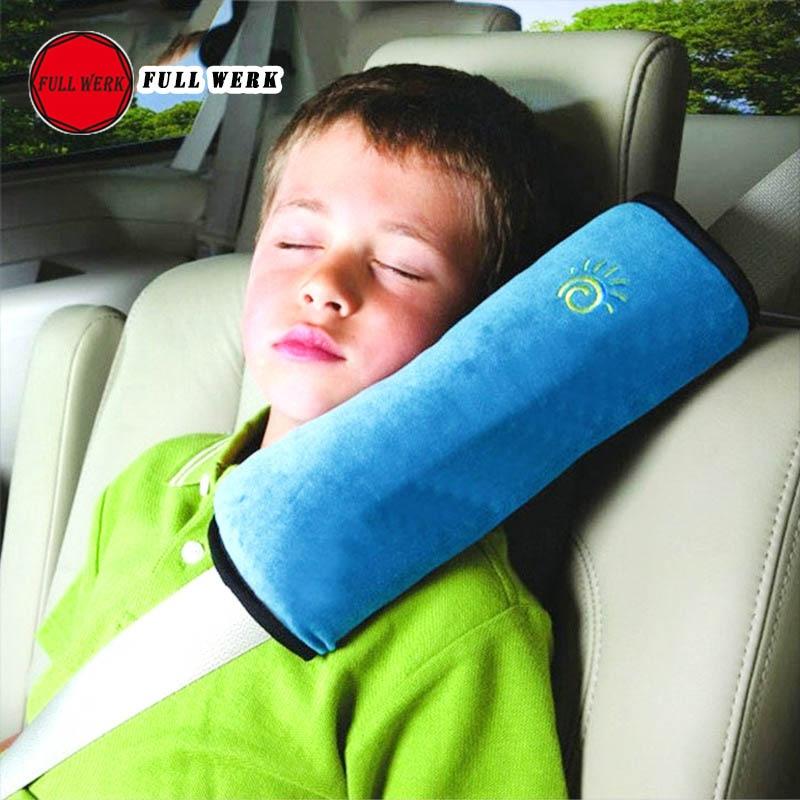 1pc Soft Seat Belt Headrest Pillow Cover Shoulder Pad Support Protector Car Pillow for Kids Children