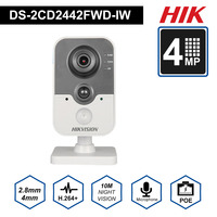 Original HIK Wireless Security Camera DS 2CD2442FWD IW poe IP camera onvif Indoor 4MP IR Cube WiFi beveiligings cam
