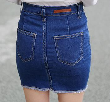 AQ67 Bandage Good Elastic Women Skirts Mini Sexy Slim Pencil Skirt Clubwear Suitable Casual Formal Denim Skirt With Pockets