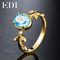 EDI Unique Leaf Design Engagement Ring Pure 925 Sterling Silver Ring For Women 6 8mm Oval