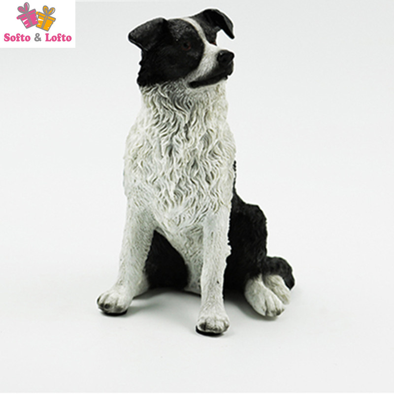 Quality The Scottish Border Collie dog figure,car styling home room decoration,doggy puppy article Christmas birthday gift toy