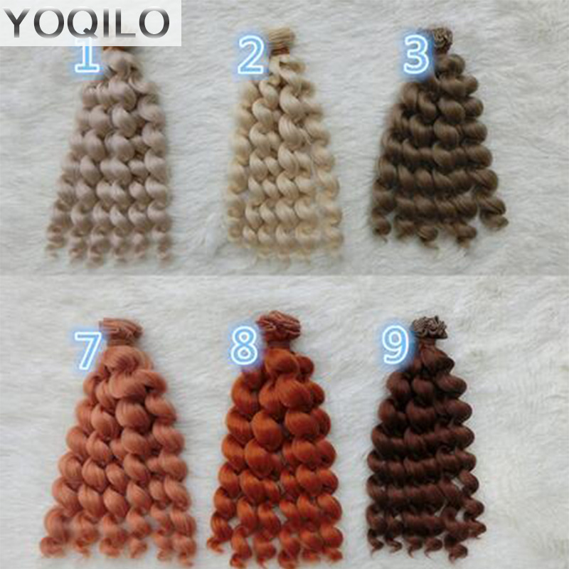 3PCS/LOT New Doll Curls DIY BJD Wigs Hair Synthetic Fiber Curly Hair Doll synthetic hair wigs new available