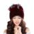 Garantia 100% Natural Genuine Fur Cap Mink Chapéu de pele Das Mulheres malha Gorro Preto Chapéus Para O Inverno Osso Moda Abacaxi Quente tampas