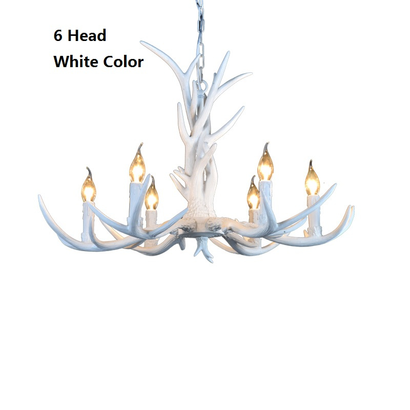 6head nordic american country antler chandelier retro resin deer 6head nordic american country antler chandelier retro resin deer horn chandelier lighting palace restaurant lustres light modern in chandeliers from lights aloadofball Choice Image
