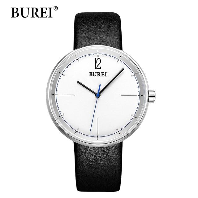 BUREI Часы Женщины Top Brand Мода Часы Ремень Из Натуральной Кожи Случайные Женщины Большое Лицо Часы Водонепроницаемые Наручные Часы Горячая Продажа