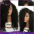 180% High Density Unprocessed Full Lace Human Hair Wigs For Black Women side part kinky curly wigs Lace Front curly Wigs