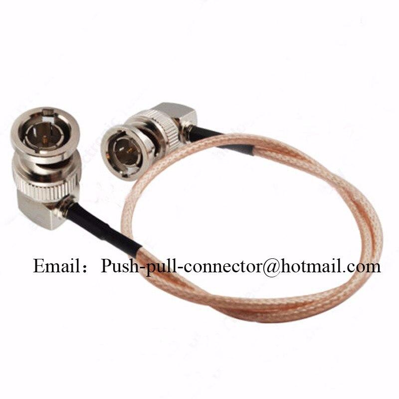 Hd sdi video cable bnc elbow plug to male