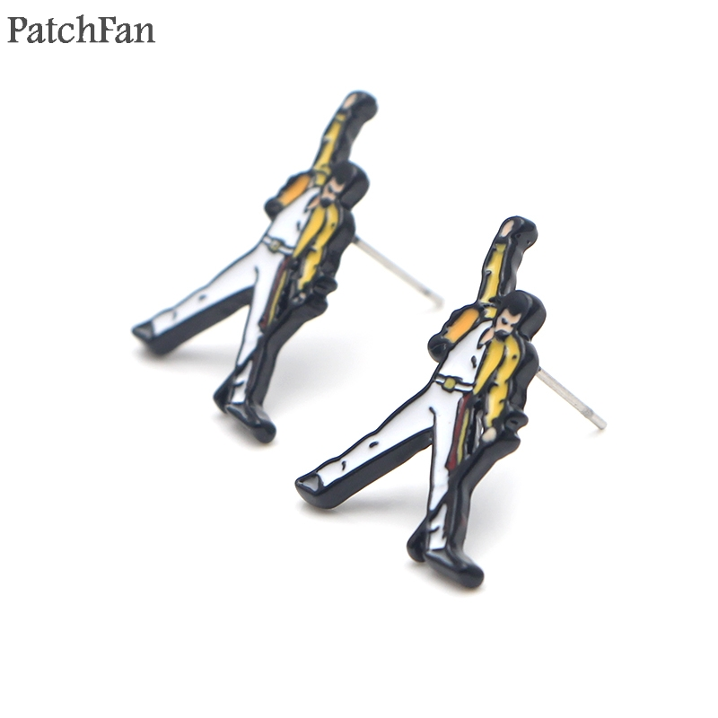 Patchfan Freddie Mercury Singer classic design Studs earrings party favors jewelry gifts girlfriend for birthday presents A1845 in Party Favors from Home Garden