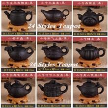 Pintado a mano Tetera Zisha Tetera de Yixing 140/175/200 ml Chino Kung Fu Establece Cerámica Teteras 24 Estilos negro Tetera De Porcelana