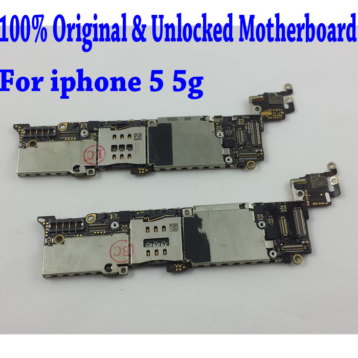 imágenes para 32 gb para iphone 5 Placa Base, 100% Abierto Original para iphone 5 5g Placa Base, para el iphone 5 placa base con Patatas Fritas, Envío Libre