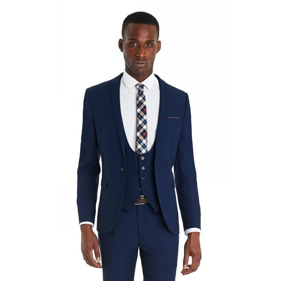 wholesale new style blue tuxedos for weddings grooms mens slim fit suits best man groomsman evening