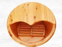 Cedar barrel foot bath barrel foot bath barrel with lid wash basin thick tub foot bath barrel