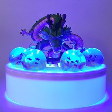 Dragon Ball Z Shenron Blue Led Crystal PVC Set Anime Son Goku Night Lights Lamp Lampara
