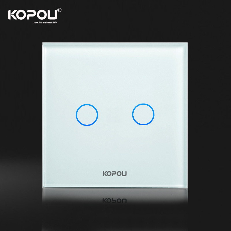 Kopou touch screen light switchwall switch eu standard 2 gang 1 way kopou touch screen light switchwall switch eu standard 2 gang 1 way white crystal glass in switches from home improvement on aliexpress alibaba group mozeypictures Gallery