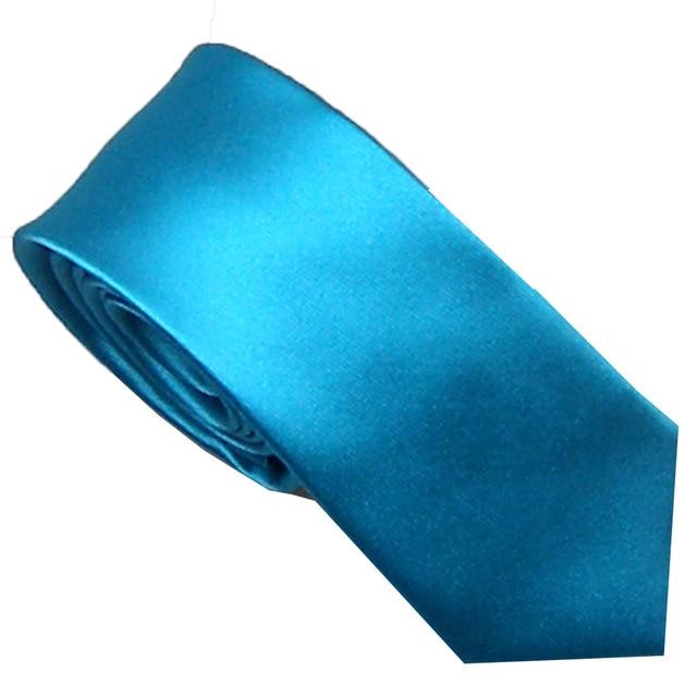 0d4ef57c53db Men's Suit Ties New Design Turquoise Solid Color Jacquard Woven Microfiber  NeckTie Skinny Tie 6cm Dress Shirts Wedding Cravat