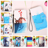 For Nokia Lumia 640 Fashion Cat Love Fish Leather Case Painting Patterns Credit Card Slots Wallet