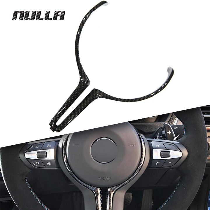 цена на NULLA Carbon Fiber For BMW M Series F80 M3 F82 M4 F10 M5 F06 F12 F13 M6 F15 X5M F16 X6M Steering Wheel Replacement Cover Trim