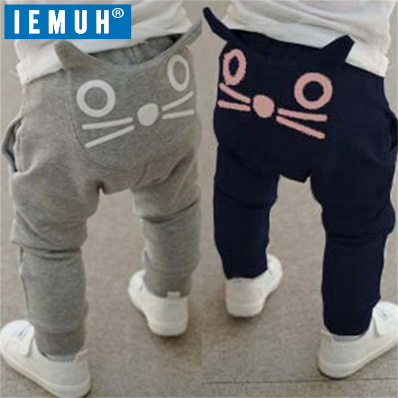 IEMUH New Baby Pants Baby Boy Girl Clothes Spring Autumn Winter Kids Clothing Boys Harem Baby Pants Cotton Owl Trousers