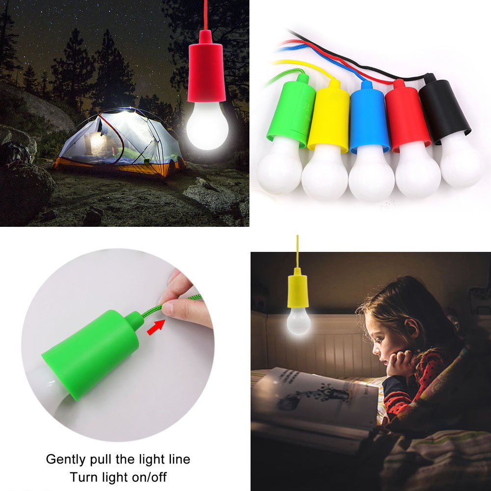 New Portable Pull Cord light Bulb Outdoor Garden Camping Hanging LED Light Lamp Pull Cord light Bulb Hanging LED Decor UtensilNew Portable Pull Cord light Bulb Outdoor Garden Camping Hanging LED Light Lamp Pull Cord light Bulb Hanging LED Decor Utensil