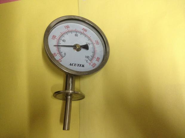 1.5 inch Tri Clamp Radial Bimetal Thermometer Stainless Steel 100C/200F degree