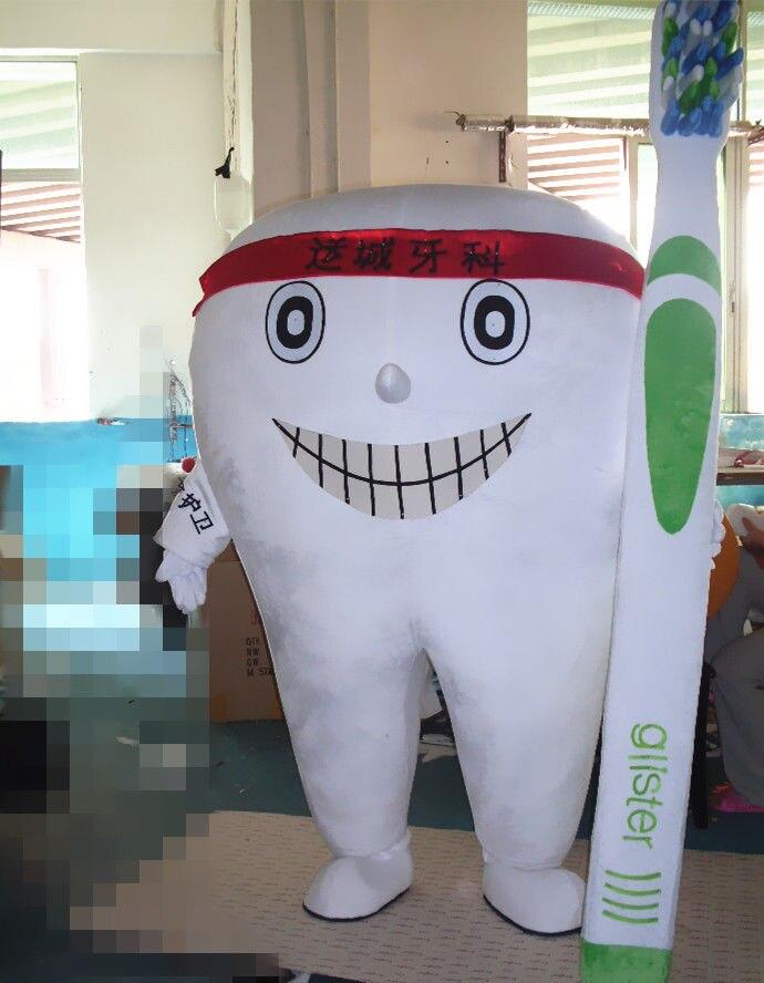 Костюм талисмана для взрослых Размер стоматологический костюм Уход нарядное платье реклама Новый