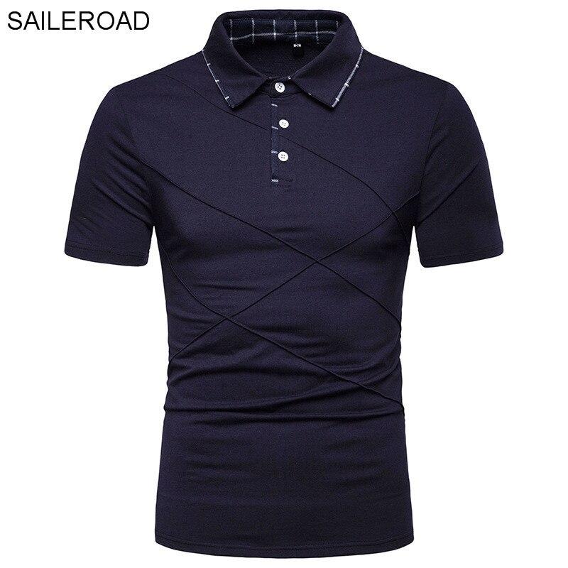 SAILEROAD 2019 New Men's   Polo   Shirt Cotton Camiseta   Polo   Hombre   Polo   Shirts Slim Fit Casual ManTops Short Sleeve Men Clothing