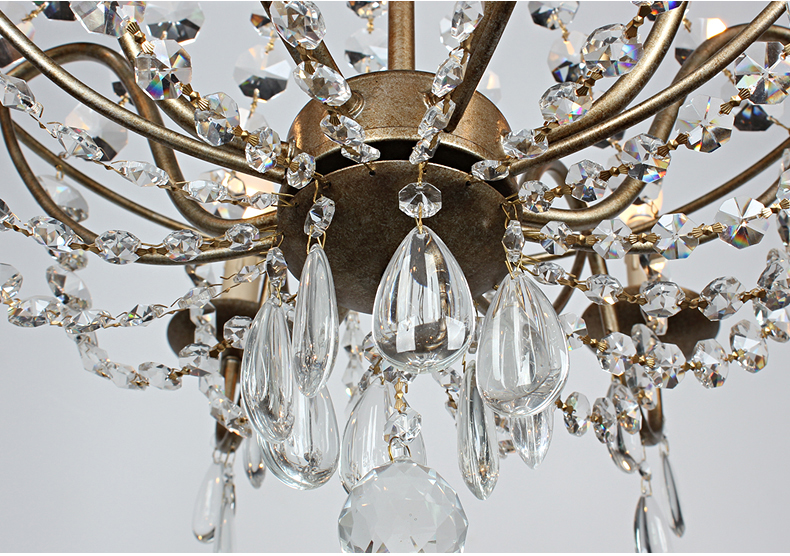 Kristal Çilçıraq Müasir Vintage Kristal Çilçıraqlar İşıq - Daxili işıqlandırma - Fotoqrafiya 6