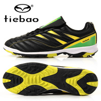 TIEBAOมืออาชีพกลางแจ้งฟุตบอลรองเท้าฝึกอบรมกีฬาฟุตบอลรองเท้าผู้ชายผู้หญิงลุยหญ้ายางแต่เพีย...