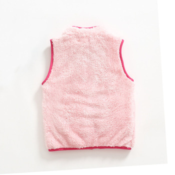 Kid's Contrast Trim Plush Vest 5