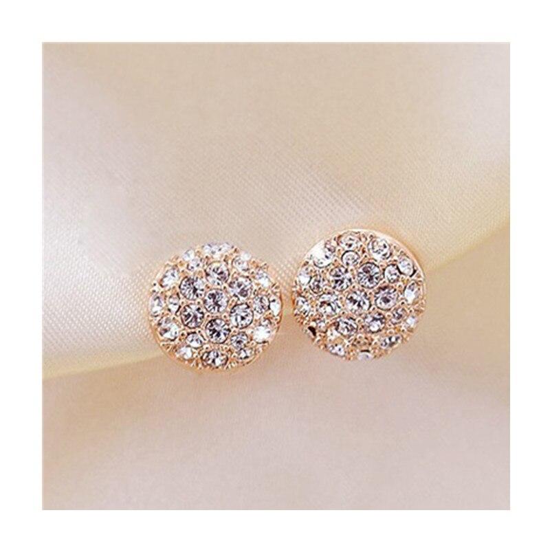 Серьги гвоздики для женщин женские 2017 букле d'oreille кристалл серьги золото Серьги-гвоздики Mujer