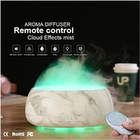500ml Remote Control Ultrasonic Humidifier Fogger Aromatherapy Diffuser Essential Oils Nebulizer Timer Settings 7Color LED Light