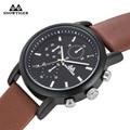 New Reloj Hombre Mens Watches Top Brand Luxury Black Watch Men Leather Waterproof Fashion Wristwatch Business Quartz Watches Men