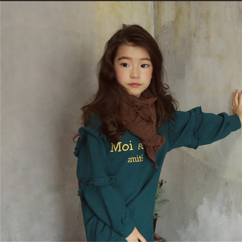 da1d825d1cf9 2018 Korean Style Spring Baby Girls Dress Long Sleeve Teenage Kids ...