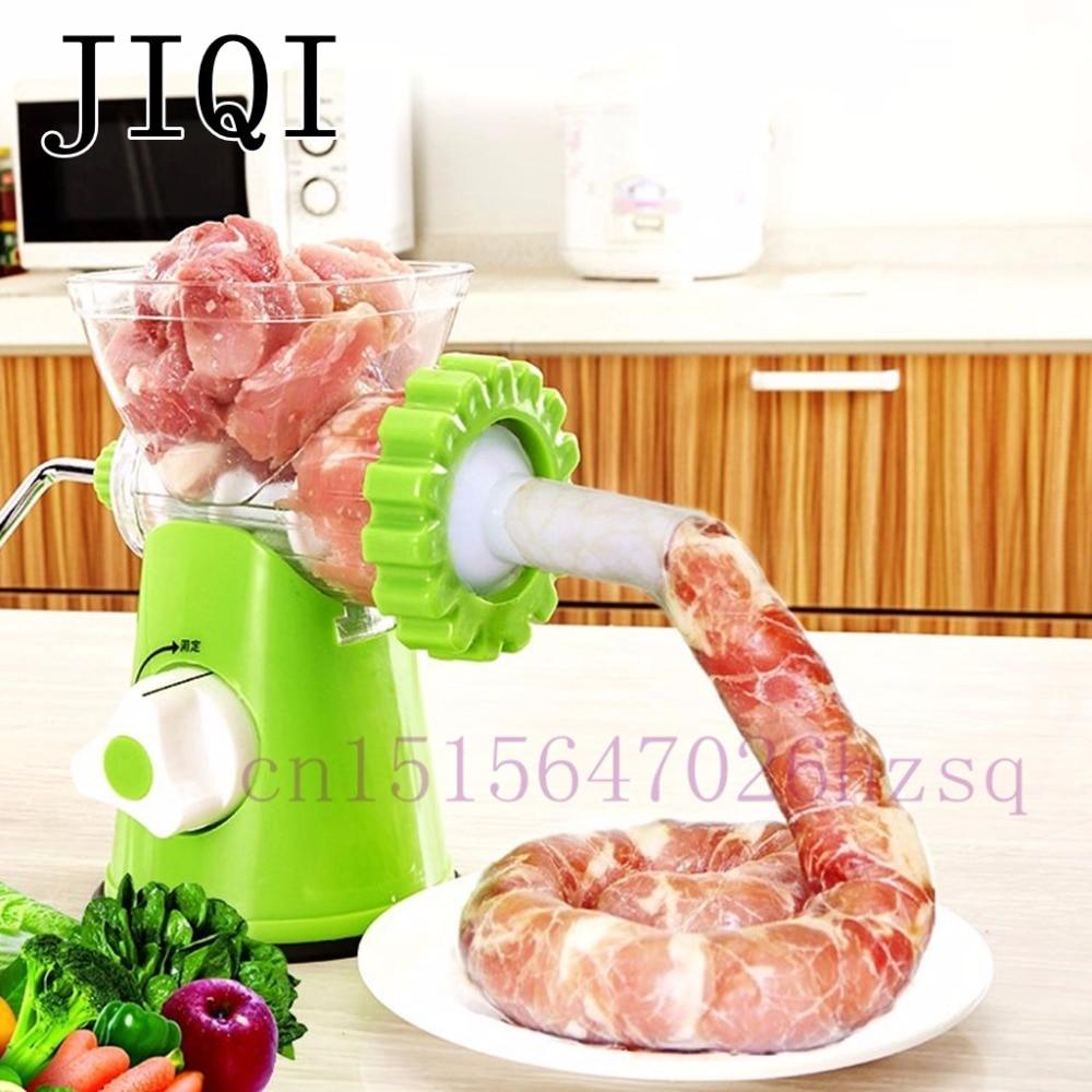 JIQI High Quality Multifunctional Home Manual Meat Grinder For Mincing Meat/Vegetable/Spice Hand-cranked Meat Mincer Sausage bear 220 v hand held electric blender multifunctional household grinding meat mincing juicer machine