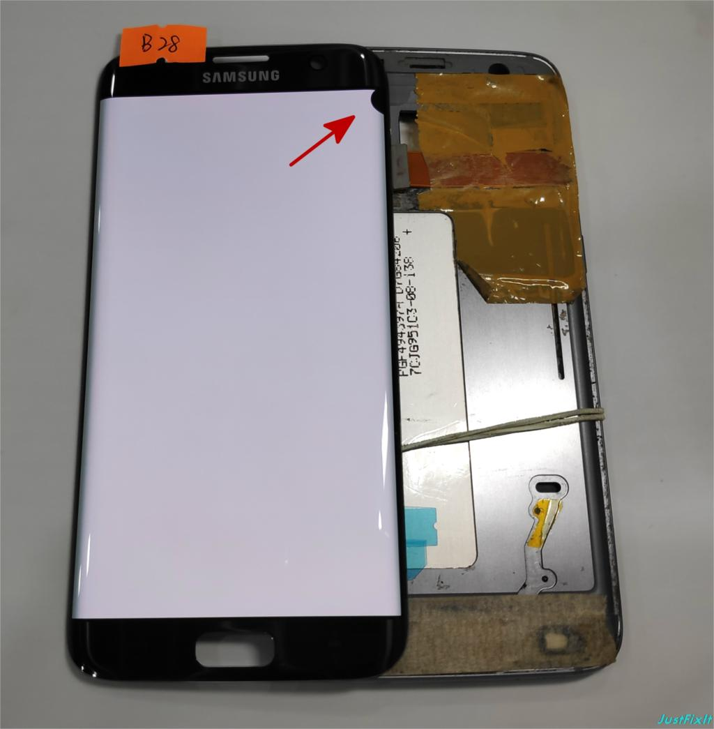 NO B28 for Samsung Galaxy S7 edge G935F G935A G935FD Defect lcd display with touch screen