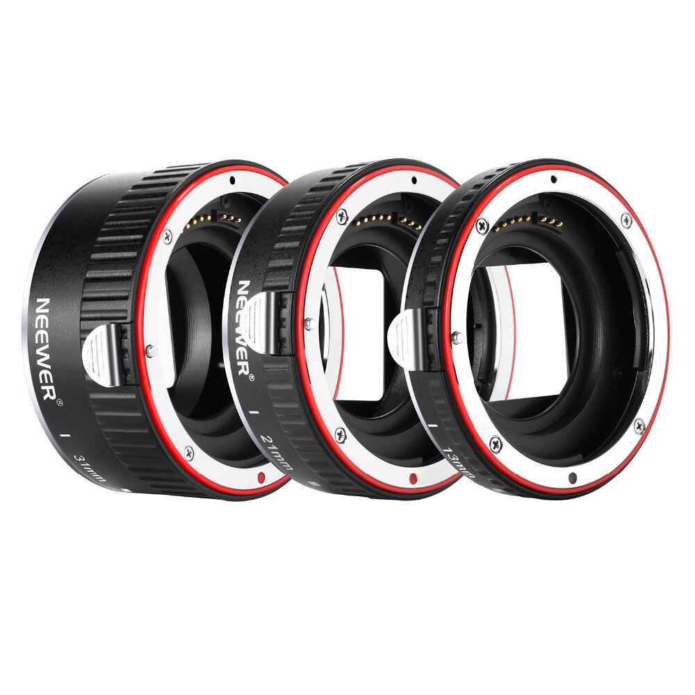 Neewer Métal Autofocus AF Macro Extension Tube Set 13mm, 21mm, 31mm pour Canon EF EF-S Objectif DSLR comme 7D Mark II