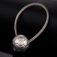 Novelty Waist Hanging Car Keychain Ball Styling Key Chain Ring Creative Football Basketball Tennis Key Holder