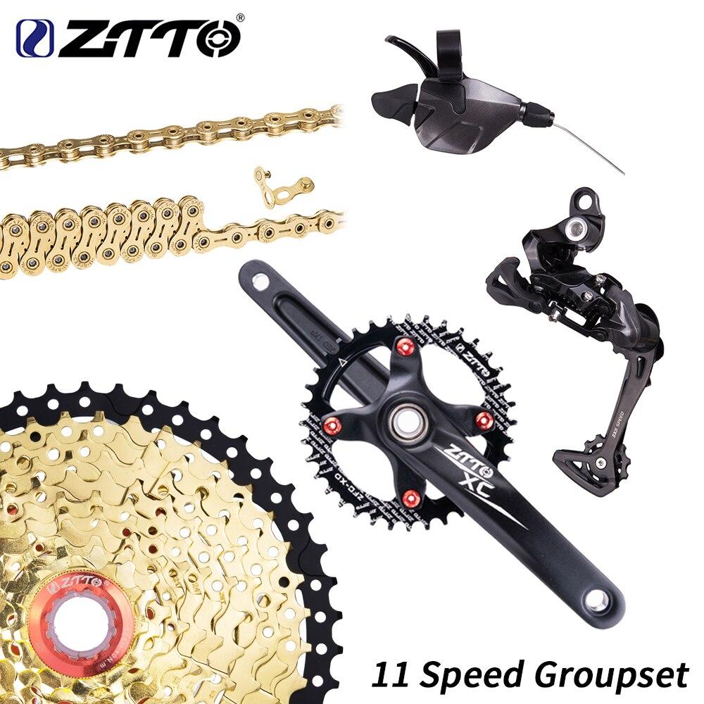 ZTTO 1 11 speed MTB Groupset 11S Shifter Rear Derailleur Crankset For Mountain Bike 11s 46T