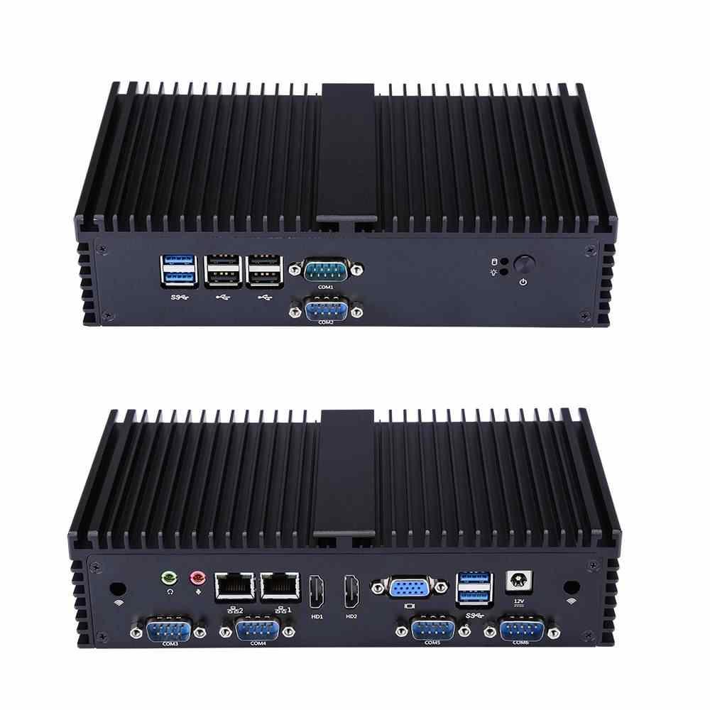 Mini PC Q575X/Q555X I7-7500U/i5-7200U 2,7 GHz Qual Core 4 GB DDR4 + 64 GB SSD de 8 GB + 128 GB 6 Gigabit Ethernet máquina cortafuegos enrutador
