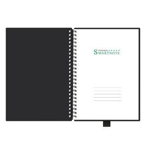 Image 3 - NEWYES czarny środowiskowy A5 Wirebound Notebook wymazywalny inteligentny zeszyt wielokrotnego użytku do pisania szmatką i zmazywalny długopis