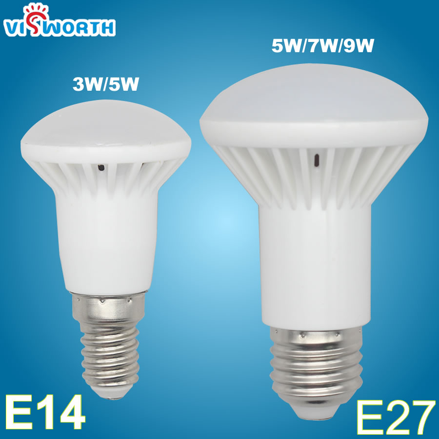 R39 E14 Led Lamp R63 E27 B22 Led Bulb 3W 5W 7W 9W Smd2835 12pcs 18pcs AC 110V 220V Spotlight Warm Cold White Umbrella Lampada e27 5w 5 led 430 lumen 3500k warm white light bulb ac 220v