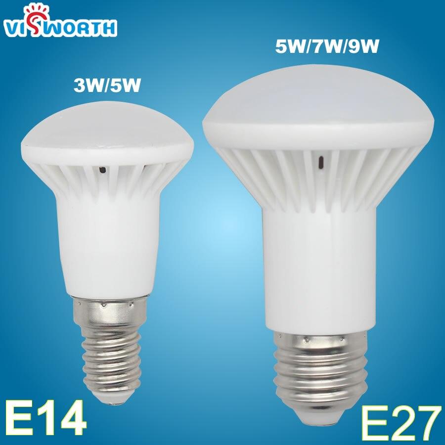 VisWorth R39 E14 Led Lamp 3W 5W R63 Led Bulb 7W 9W SMD2835 Lampada LED Spotlight Warm Cold White AC 110V 220V Led Light E27 B22