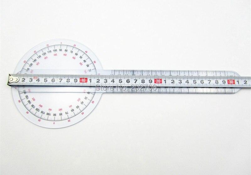 0-300 мм 12 дюймов угломер пластиковый транспортир медицинская линейка угловой измерительный прибор пластиковые измерительное устройство, 10 шт./лот