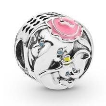 925 Sterling Silver Dumbo & Mrs Jumbo Charm fit Original Pandora Bracelets Women DIY Jewelry недорого
